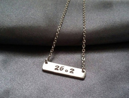Marathon Necklace, 26.2 Jewelry,Custom Sport Necklace, Chicago Marathon ... - $8.00