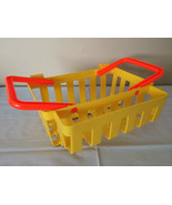 Fisher Price Pretend Play Fun with Food Shopping Basket Yellow Toy 1984 ... - $17.99