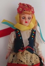 "Vintage 8"" Hard Plastic Doll European German Dutch Sleepy Eyes Toy Mid-C... - $13.99"