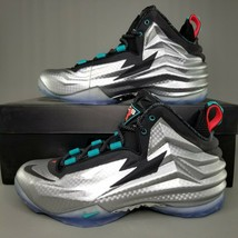 Nike Chuck Posite Metallic Silver Basketball Shoes Mens Size Barkley Bla... - $229.99