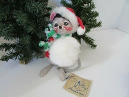 "Vtg 1994 Holiday Annalee Mobilitee 6"" Snowball Mouse W/TAG - $14.80"