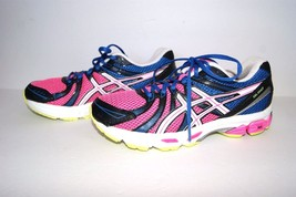Asics Oasis Duomax Gel Exalt Blue Pink US 7.5 Athletic Running Tennis Shoes  - $19.79