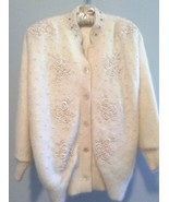 Beaded Angora Jacket, Bridal, Evening or Special Occasion - $95.00