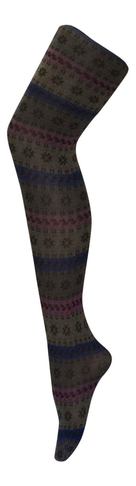 Sock Snob - Womens Thick 80 Denier Opaque Patterned Colorful Winter Tights