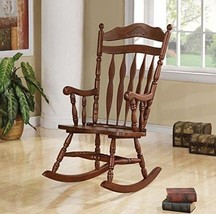 Traditional Wood Rocking Chair Accent Indoor Porch Rocker Nursery Seat F... - $209.07