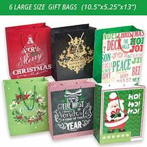 24 Christmas Gift Bags Assorted sizes with 60-Count Christmas Gift Tags(Bulk Set image 4