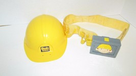 Bob the builder construction work hard hat and toy tool belt w/ sounds - $14.99