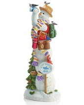 Lenox 2019 Pencil Snowman Figurine Annual Snowy Bird Watcher  Christmas NEW - $128.70