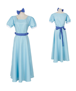 Peter Pan Wendy Rachael Costume Cosplay Party Women Long Blue Dress - $31.43