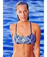 NWT  PILY Q bikini swimsuit top L geometric diamond embroidered beaded h... - $48.50