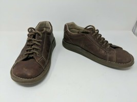 Dr Marten's Brown Leather Oxford Lace-Up Outdoor Walking Shoes Mens US Size 7 - $29.69
