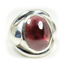 Natural Garnet Red Oval Gemstone 925 Solid Silver Ring Size US 4,5,6,7,8... - $59.20