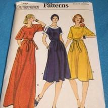 Vogue Patterns 9699 70s Boho A-line Dress Kimono Sleeve Belt Size 12 VTG Uncut - $12.38