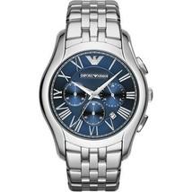 New Emporio Armani Classic Silver Steel Bracelet Chronograph AR1787 Mens Watch - $108.03