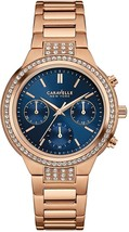 Caravelle New York Women's 44L181 Analog Display Quartz Rose Gold Watch - £217.30 GBP