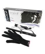 Royale Infinite Black Tourmaline 19mm Wand Hair Curling Iron Clipless Sl... - $44.54