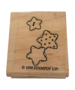 Stampin Up Rubber Stamp Country Stars Buttons Patchwork Sewing Card Maki... - $3.99