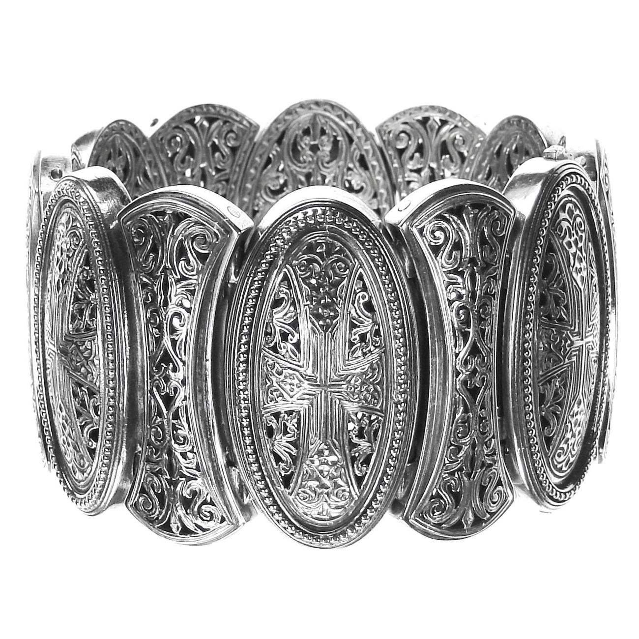 02006352 gerochristo 6352 byzantine medieval cross bracelet 1