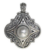 Gerochristo 3141 - Sterling Silver & Pearl Medieval-Byzantine Pendant  - $300.00