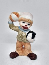 Vintage 1980 Enesco Clown Figurine Taiwan - $15.79