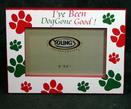Dog Paws Christmas Picture Frame 4x6 - $11.98