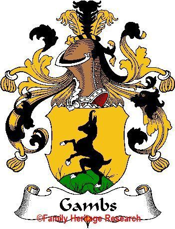 GAMBS German Coat of Arms Print GAMBS Family Crest Bonanza