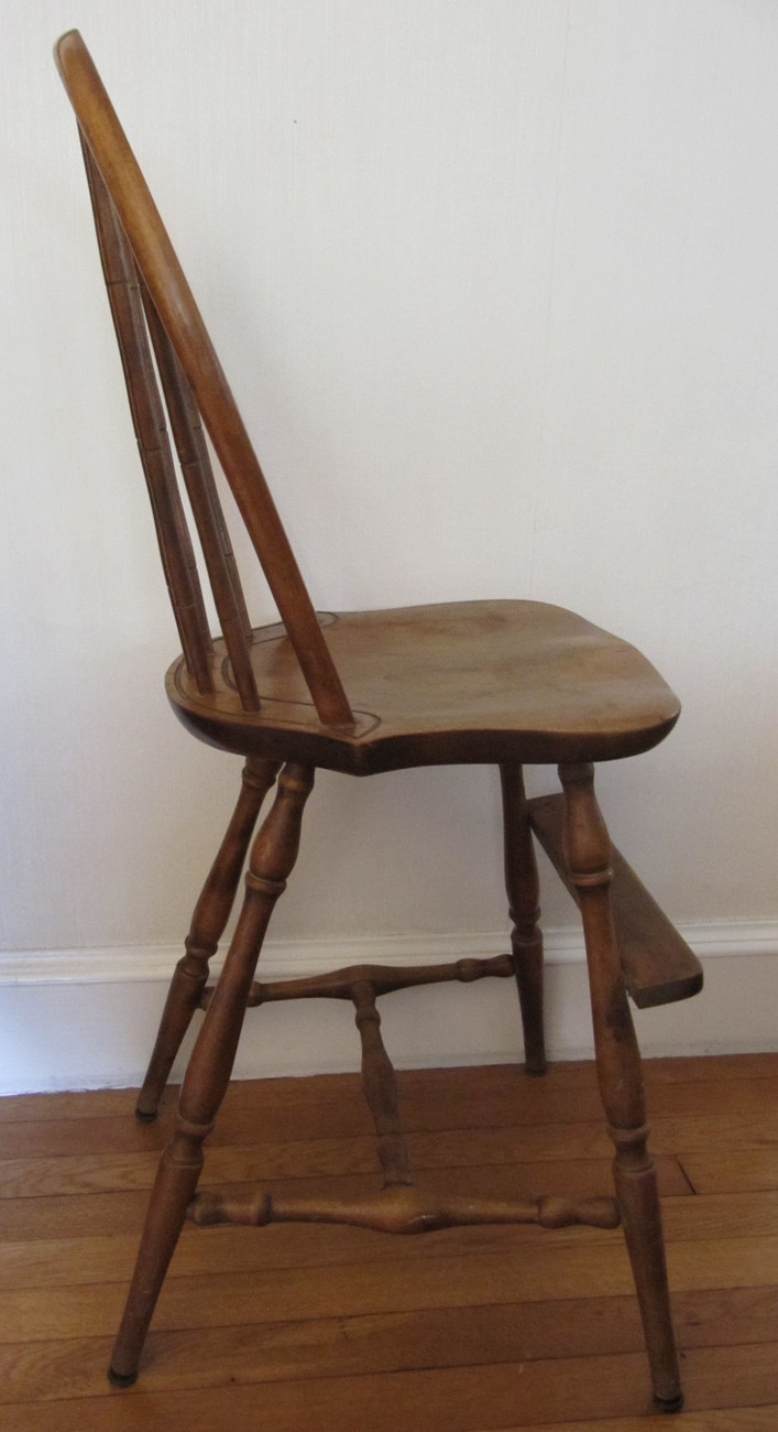 Vintage Nichols Amp Stone Windsor Chair Bow Back Youth High