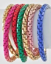 Multi Color Metal Chain Wrap Bracelet Necklace - $21.17 CAD