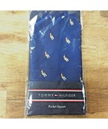 Tommy Hilfiger Blackwatch Navy Pocket Square - Christmas Hound - $15.83