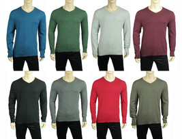 New Mens Alfani Regular Fit V Neck Lightweight Pullover Sweater $60 - $16.99