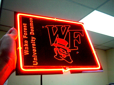 "NCAA Wake Forest Deamon WF University Football Beer Bar Neon Sign 12"" x 8"""