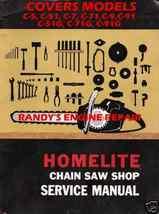 HOMELITE SERVICE MAINTENANCE MANUAL C5 C51 C7 C71 C9 G+ - $6.65