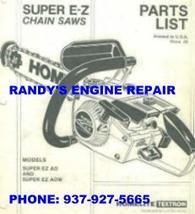 Parts Manual Homelite Super Ez E-Z Automatic Chainsaw - $4.89