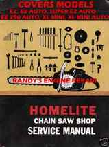 HOMELITE EZ SUPER EZ XL-MINI SERVICE MAINTENANCE MANUAL - $4.89