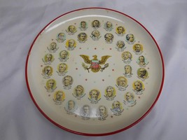 1960's Chadwick Alcohol Proof U.S. PRESIDENT SERVING TRAY Washington to ... - $19.79