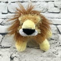 Ganz Webkinz Lil' Kinz Lion Plush Golden Brown Shaggy Stuffed Animal Soft Toy - $7.91
