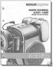 TP-2097 NEW PARTS Manual For K301 KOHLER Engine - $10.67