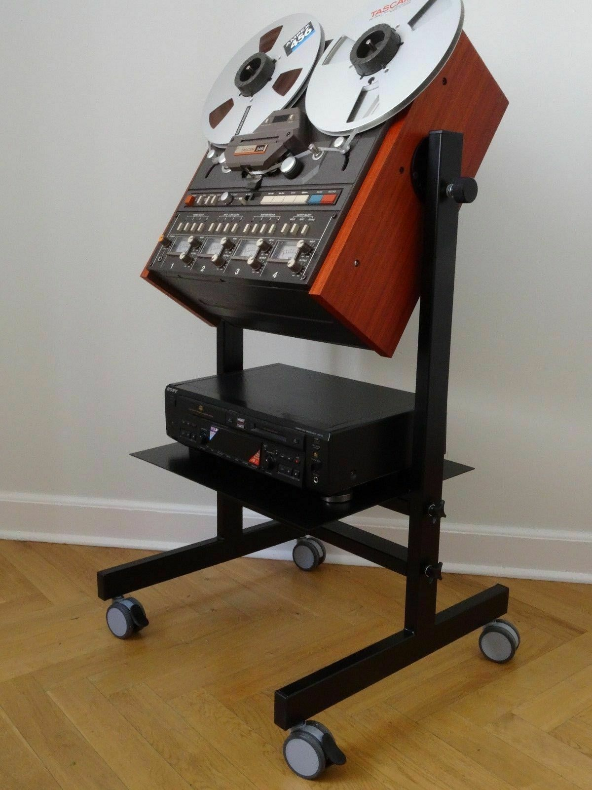NEW Custom Made Cart Stand with Side Panels for TASCAM 42 NB Reel Tape Recorder