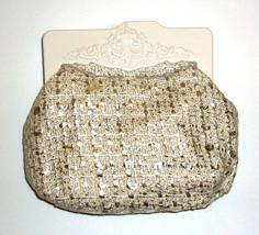 Mac Cosmetics Clutch Mini Small Bag Royal Heirlooms - Silver - $9.99