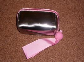 Mac Cosmetics Clutch Mini Pink Silver Bag - House Of Mirth - $9.99