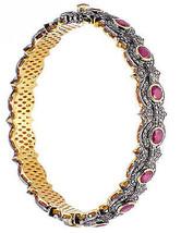 Unique Design Vintage Inspired 7.50Ctw Rose Cut Diamond Silver Ruby Brac... - $1,250.00