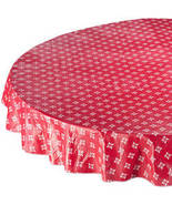 Heritage Vinyl Tablecovers By Home-Style Kitchen-60X90OBLONG-RED - $17.74