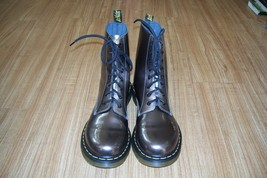 LADY DR.MARTENS BOOTS!!! Pre-worn Bronze/Copper P-Leather Combats Only $... - $65.44