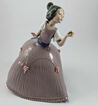 Lladro Figurine Girl in Pink Dress 5120 Primavera Diasa 1982 Jose Puche  - €173,13 EUR