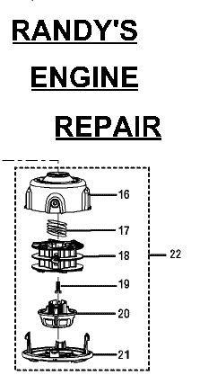 Reel Easy Trimmer Head fits Ryobi 4 stroke 120950010 - $27.39