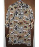 Mens Jack Hollywood Hawaiian Shirt Size Large Rayon  - $11.99