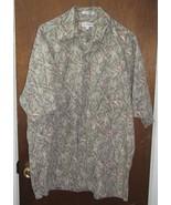 Mens Pierre Cardin Hawaiian Shirt Size Large Cotton  - $15.99