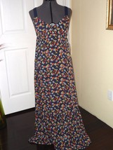 QUICKSILVER SUNDRESS SIZE XS - S BLUE FLORAL PRINT LONG MSRP:69.50 NWT - $21.99