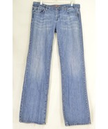 1 Vigoss jeans 15 x 35 medium wash long lean tall sexy embroidery back p... - $29.69