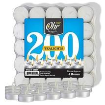 Ohr Tea Light Candles - 200 Bulk Pack - White Unscented Travel, Centerpi... - $17.75